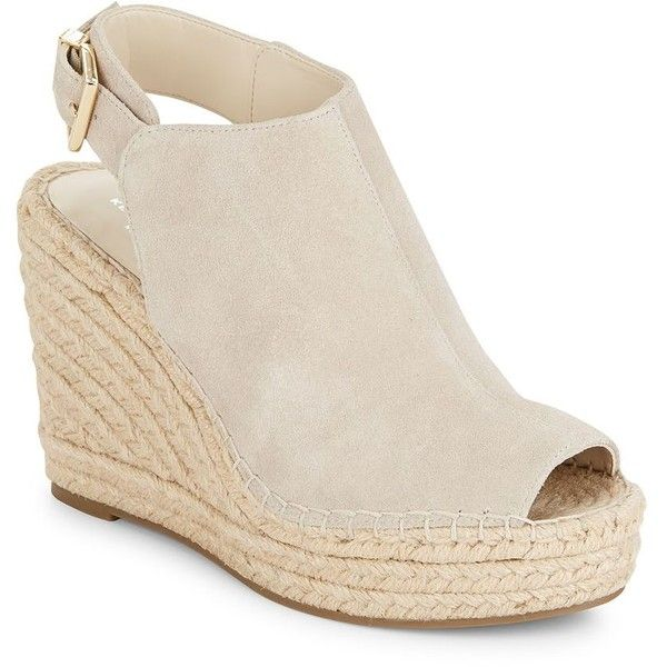 f94bb7845a3 Kenneth Cole Odette Suede Espadrille Wedge Sandals ( 50) ❤ liked on  Polyvore featuring shoes