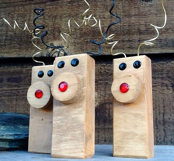 Zany Reindeer Duo Ornaments Christmas by PineBranchDesigns ...