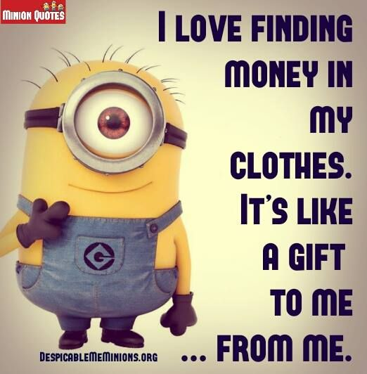 Minion Funny Money Quotes | Like Success | Money quotes ...