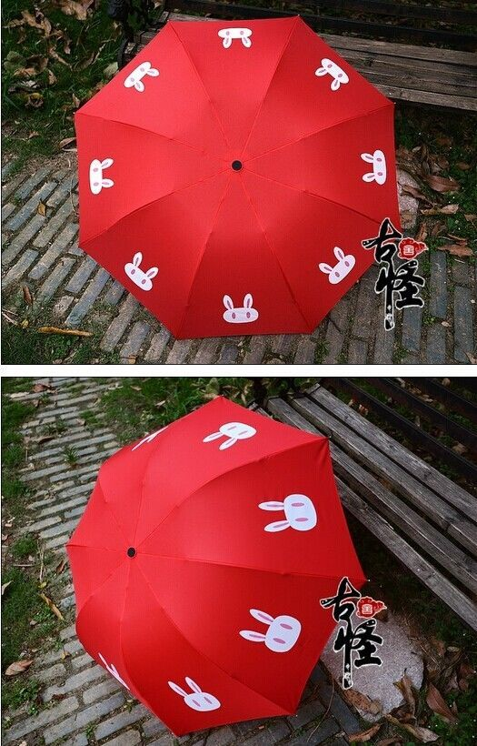 Sailor Moon Moonlight Memory Red Tsukino Usagi Umbrella Rabbit Cosplay Props