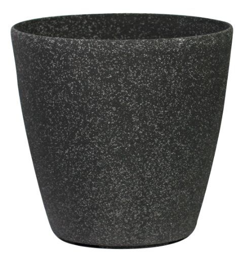 Stone Light Sl Series Cast Stone Round Planter 11inch Aged Black