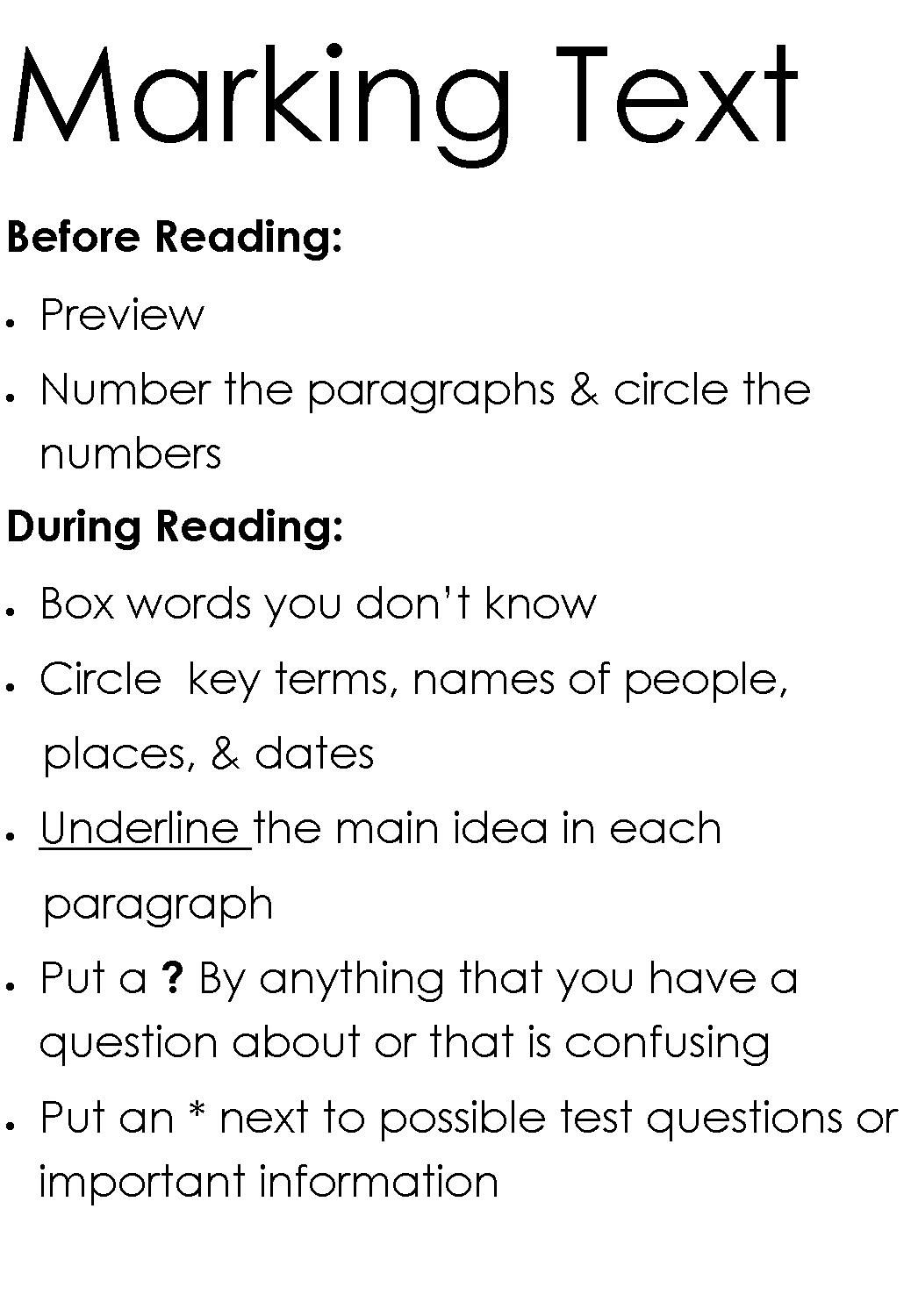 Close Reading Guide for Annotation  Close Reading Strategies  Pinterest