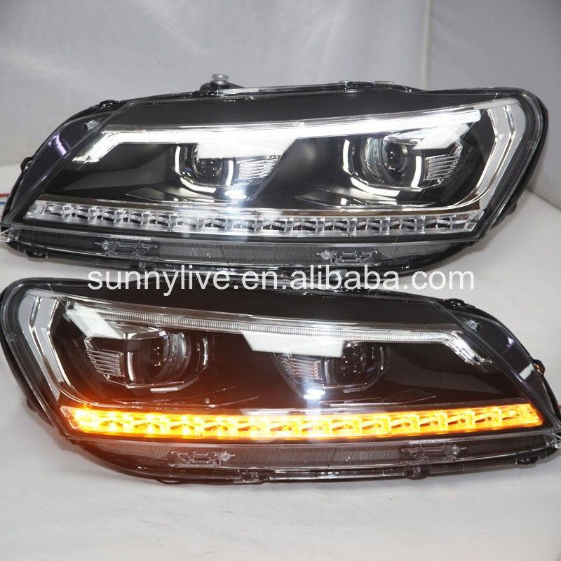 New Style led headlight For VW Passat B7 North American version LED Head Lamp Angel Eyes 2011 ...