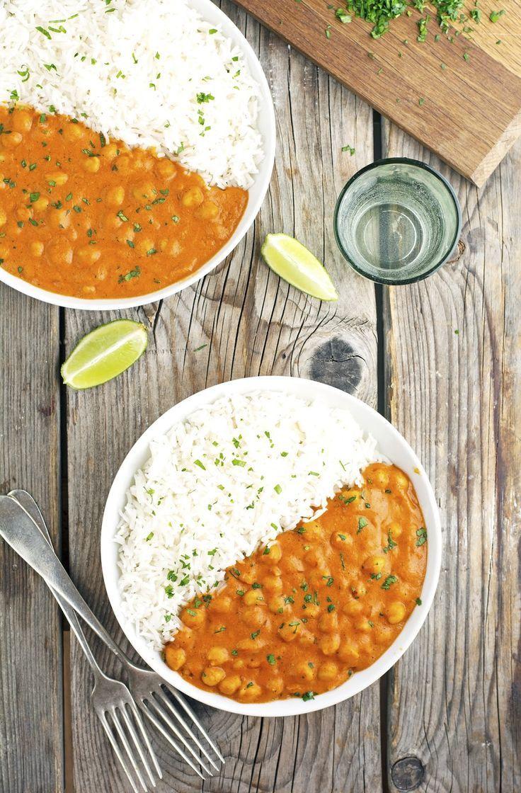 (Vegan) Coconut Curry Chickpeas Vegitarian recipes