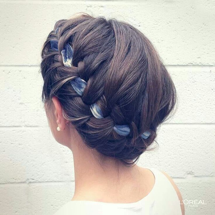 Braid with Ribbon in Hair   Ribbons in Our Hair   Pinterest   Hair     Braid with Ribbon in Hair