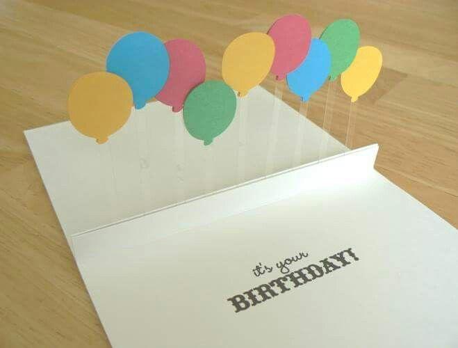 3 D Luftballon Karte Cute Diy Ideas