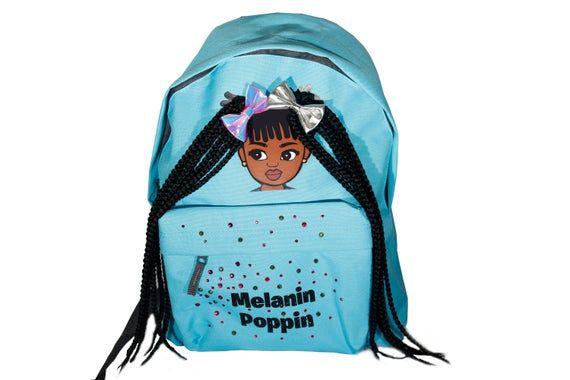 Melanin Poppin Black kids bags, Black designs, Back to school bags, Black excellence, Black Girl Bac #excelwordaccessetc