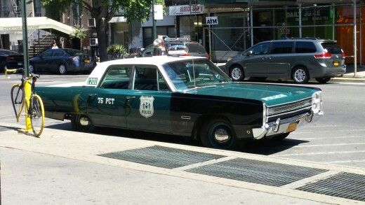 1968 vintage nypd police cars