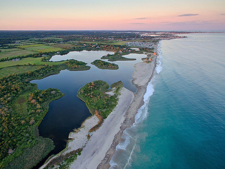 Moonstone Beach From Above South Kingstown Ri Trustom Pond Wildlife Preserve Aerial