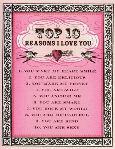 top 5 reasons i love you
