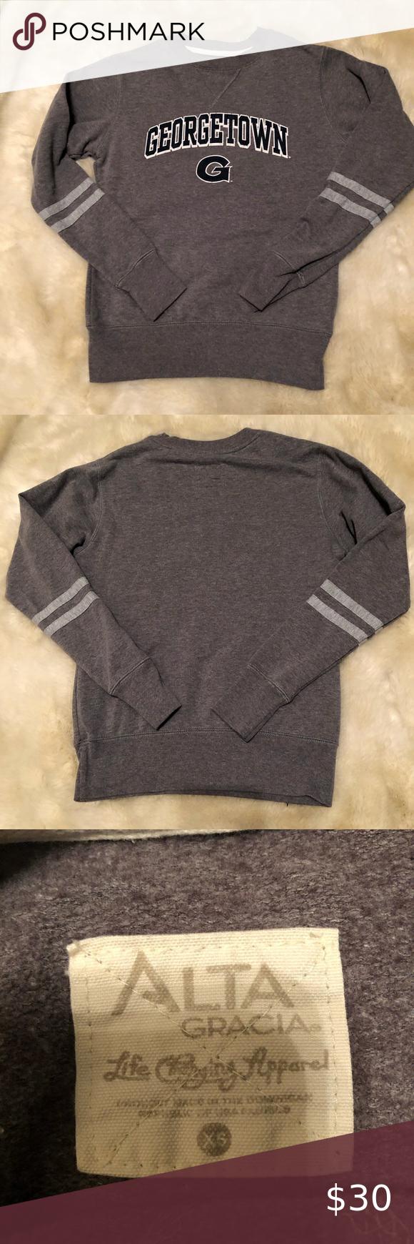 Georgetown Classic Crew Sweatshirt Crew Sweatshirts Sweatshirts Sweatshirt Tops [ 1740 x 580 Pixel ]