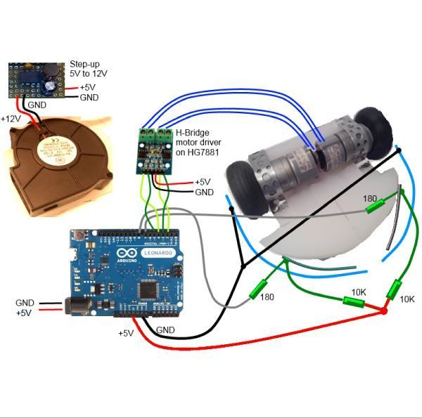 Floor Vacuum Cleaner Robot Version 13 Arduino Arduino Robot Vacuum Cleaner