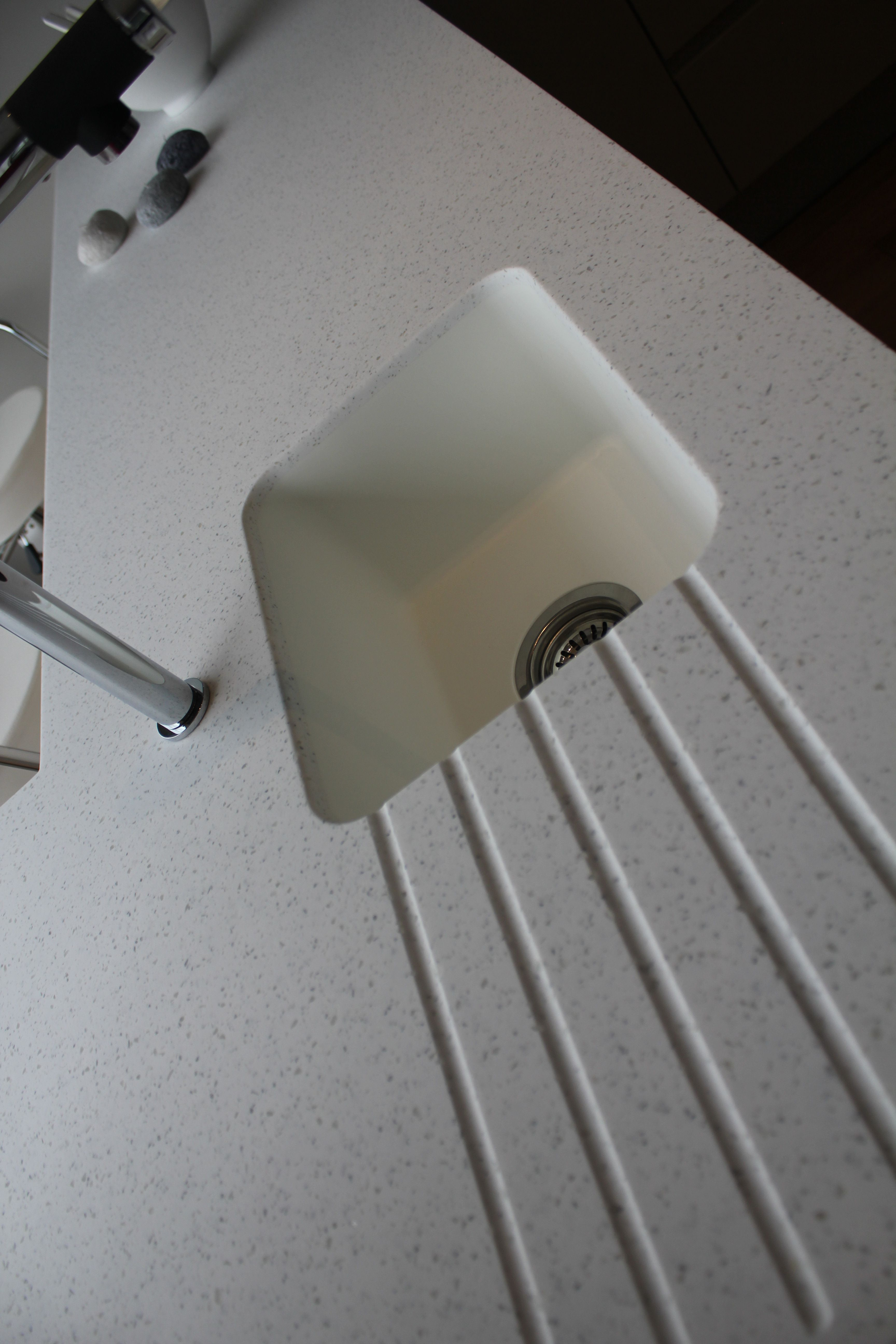 Stunning Corian sink. With hand routed draining board. Simply ...