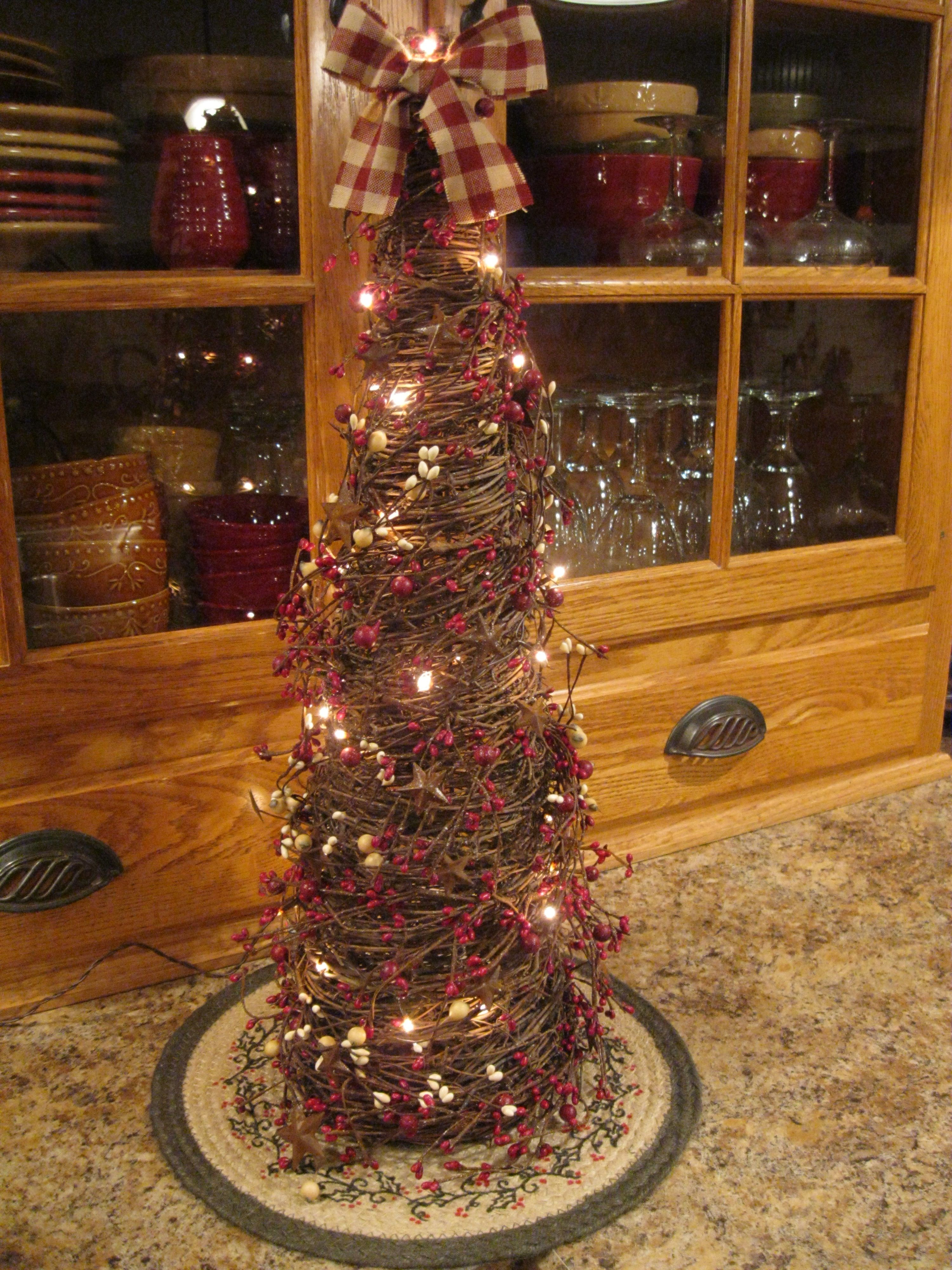 Primitive Twig Christmas Tree | For the Home | Pinterest ...
