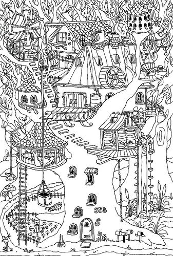 Pin By Frida Nilsson On Coloriage Adultes Coloring Pages Magic Treehouse Coloring Books