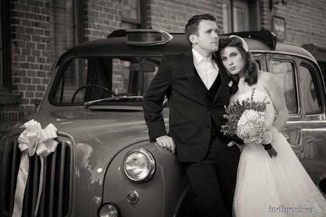 Rachel & Robert black and white 50's glam wedding
