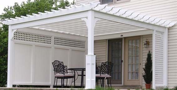 Outdoor Vinyl Lattice Privacy Screens Country Lane Pvc Shade Pergolas Quality Amish Built