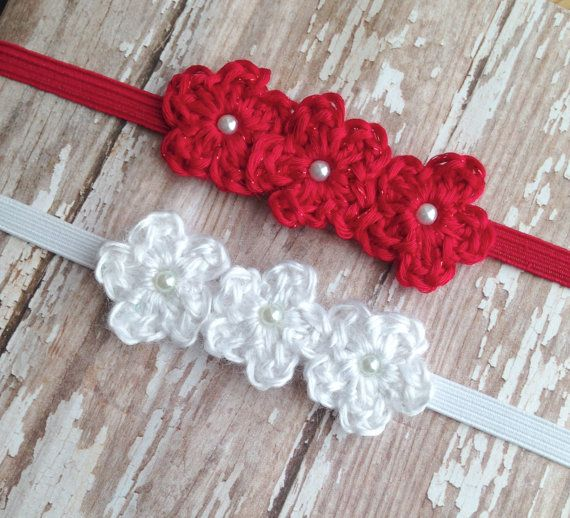 8cf2509fb83 Newborn Headband Crochet Headband Baby Girl Photography Prop ...