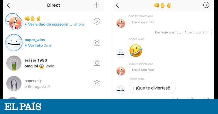 Instagram integra las fotos y vídeos efímeros en la interfaz de los mensajes privados