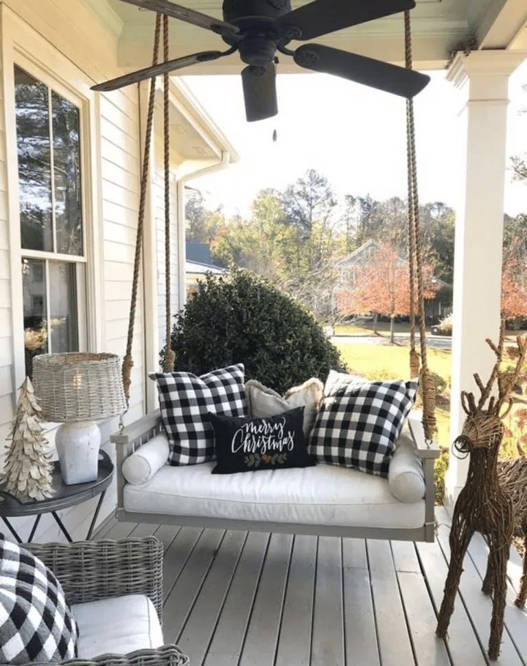 Beautiful Fall Porch Farmhouse Style 27 Porch Furniture Farmhouse Porch Swings Porch Decorating