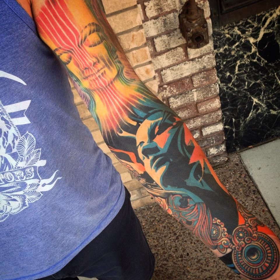 Alex Grey, Tes One, Palehorse reproduction tattoo by Megan