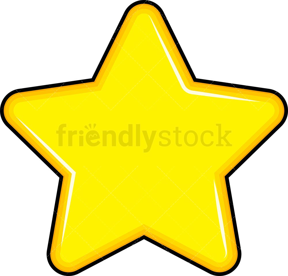 Yellow Star Cartoon Vector Clipart Friendlystock Clip Art Emoji Clipart Star Emoji