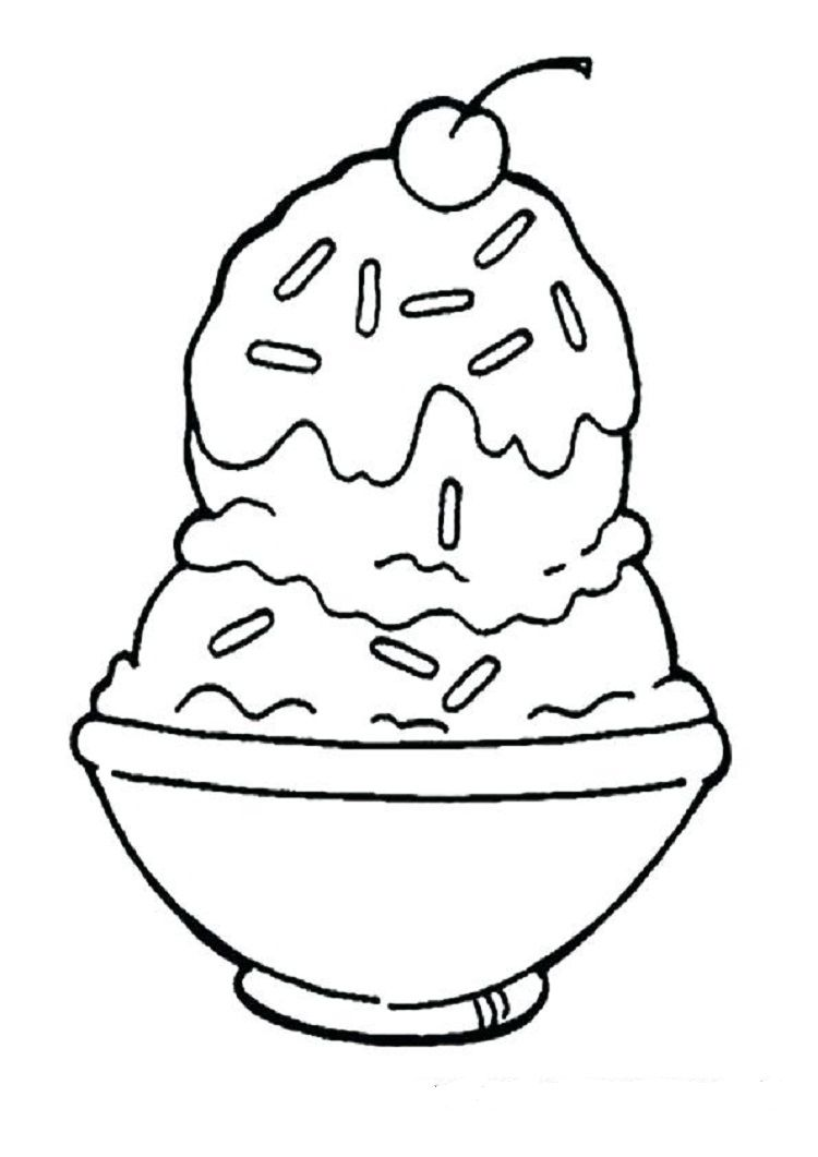 Bowl Of Ice Cream Coloring Pages Ice Cream Coloring Pages Ice