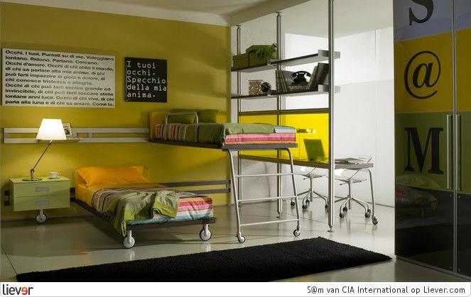 Mooie kleuren en scheidingswand bd kamer interieur