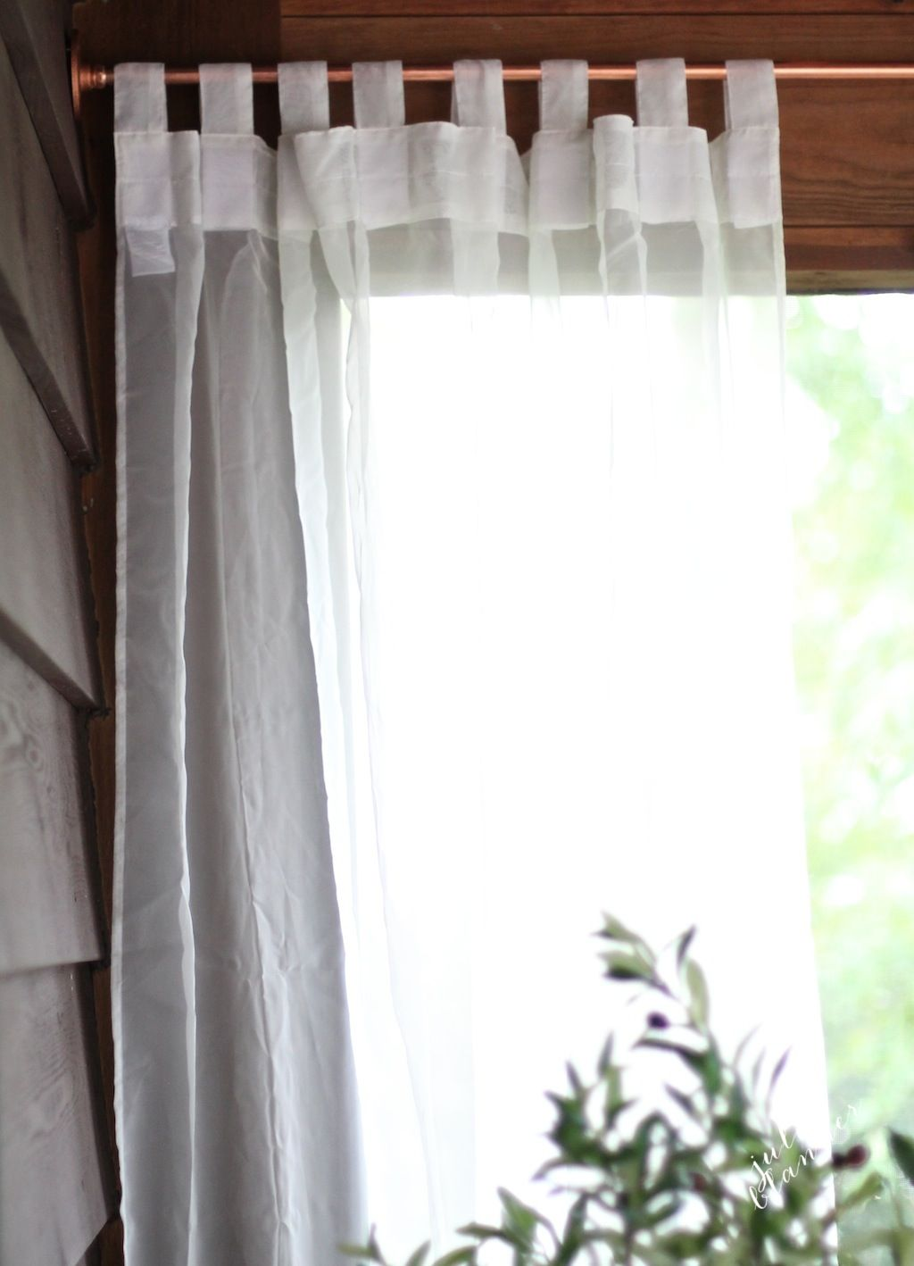 Custom Curtain Rod Tutorial The Look For Less Curtains Custom