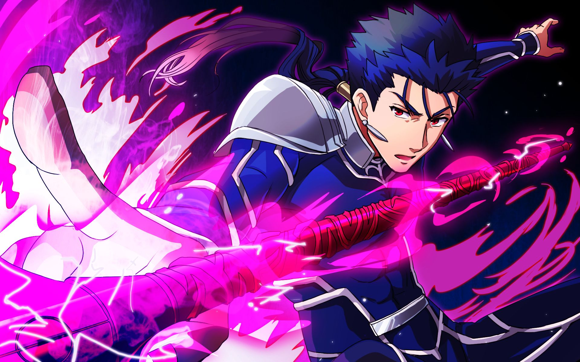 Anime Fate Stay Night Anime Lancer Fate Stay Night Lance Red