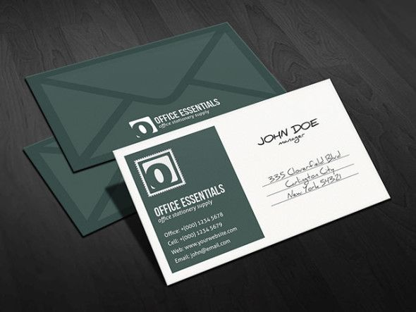 Download httpfree business card templatesstationery this creative and unique postcard or envelope inspired business card template is great for stationery office supplies and other mail related business cheaphphosting Images