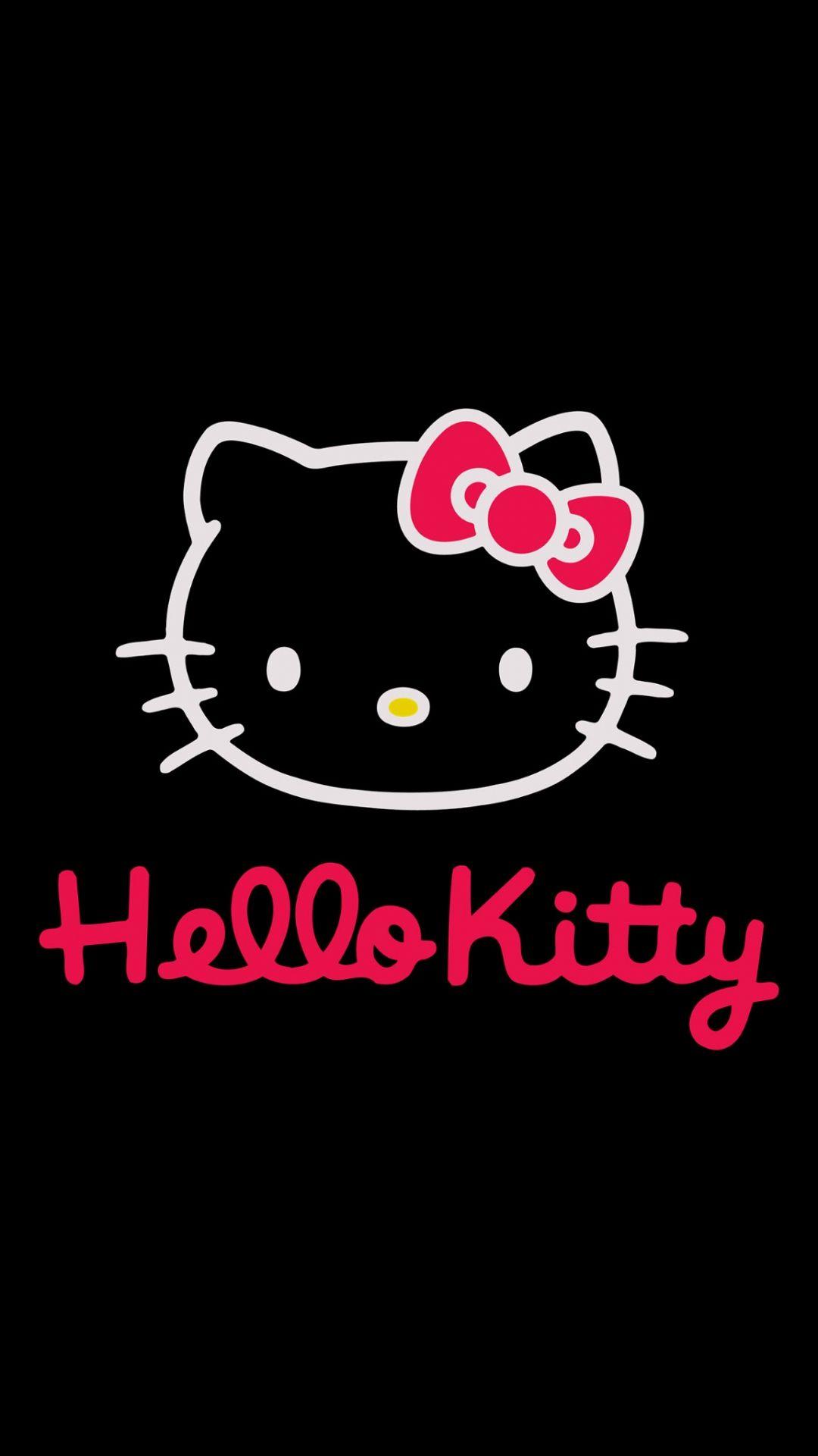 Black Hello Kitty Background Picture Hello Kitty Backgrounds Hello Kitty Wallpaper Hd Hello Kitty Art