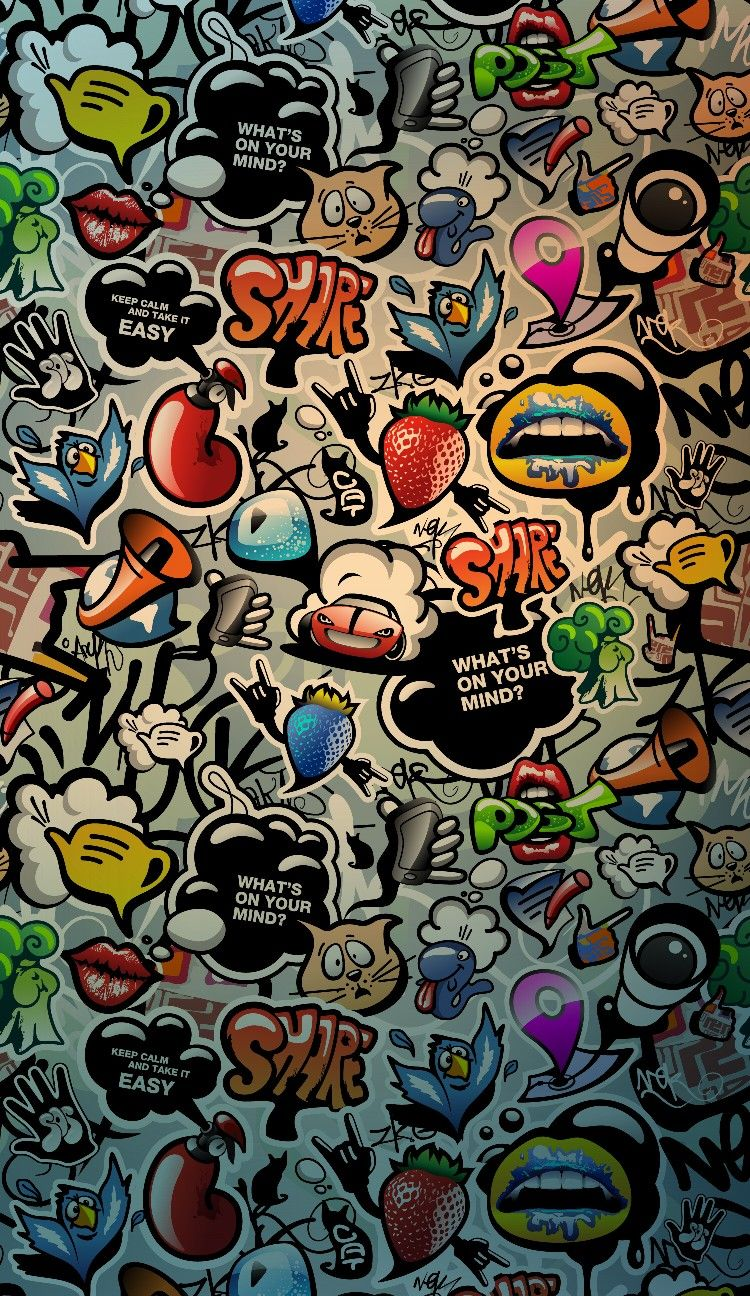 Phone Backgrounds Iphone Wallpapers Wallpaper Cute Graffiti Wall