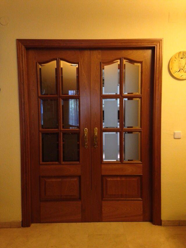 250 x ev 6 cristal bisel mate sapelly rameado la - Puertas correderas de cristal y madera ...