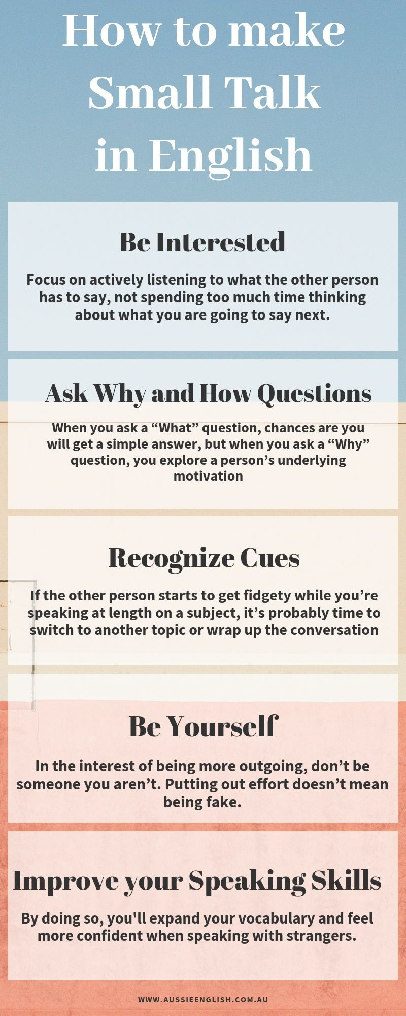 Improve Your English Speaking Skills And Learn How To Make Small Talk In English Get More English Tips Small Talk Improve Speaking Skills Public Speaking Tips