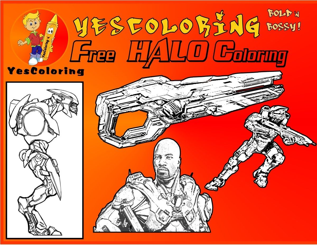 Free Ice Cold Halo Coloring Halo Game Yescoloring