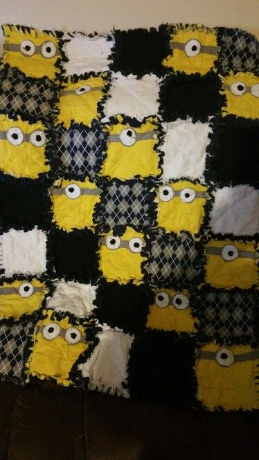 Minion Rag Quilt Sewing Projects Rag Quilt Patterns