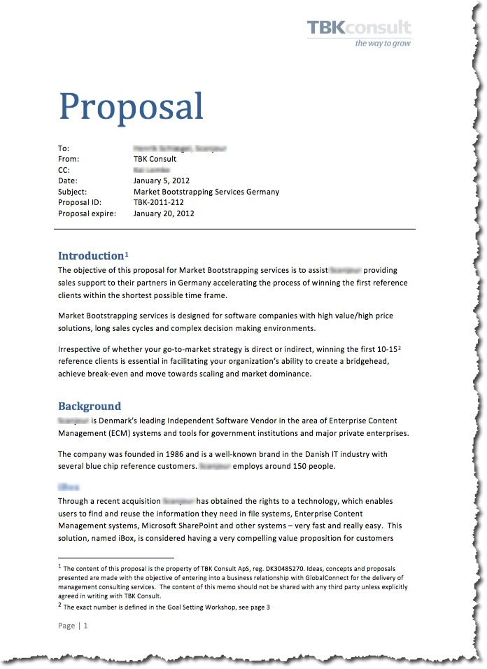 who to write a proposal