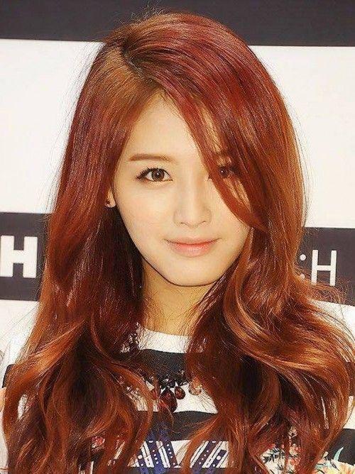 Jaekyung Korean Celebrity Brown Reddish Hair Style  HAIR  Pinterest  Shops, Nice and Colors