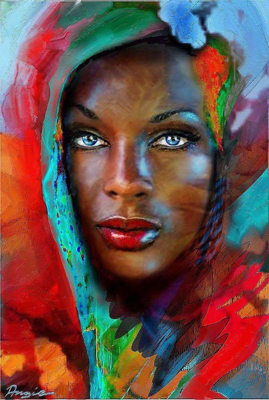 Afrika Black art, Female art, Black women art
