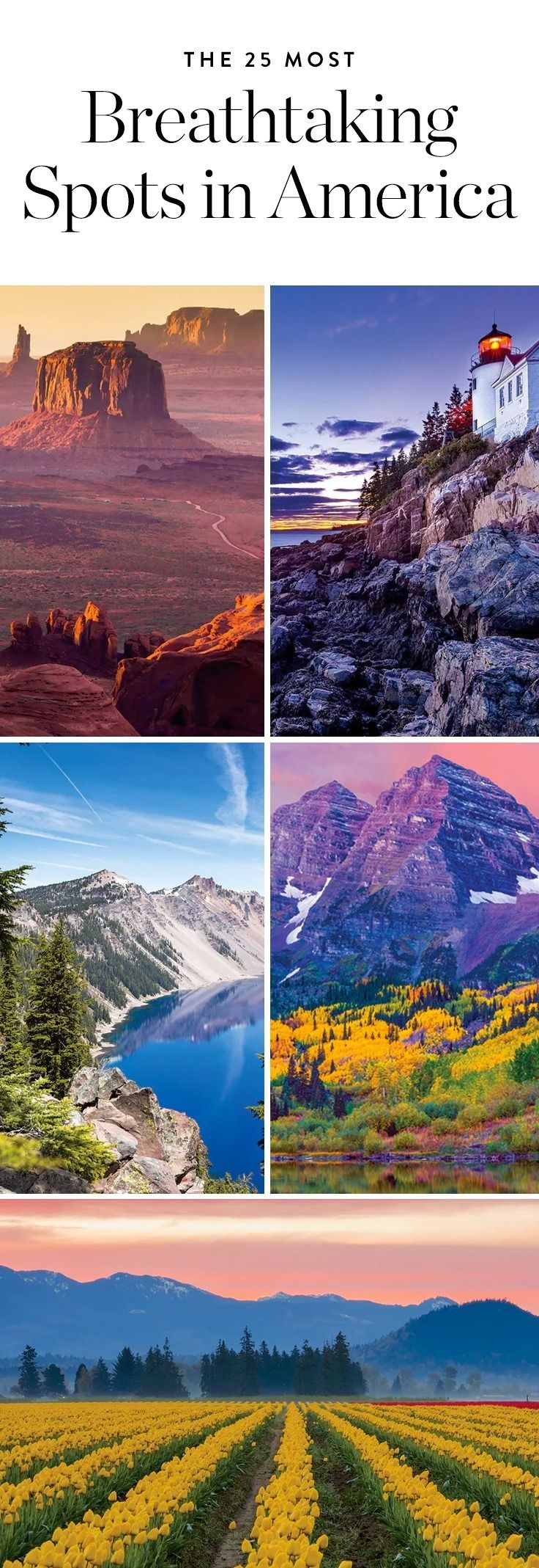 Get our your camera: From Big Sur to the Brooklyn Bridge, these are the 25 most photogenic and awe-inspiring places right here in the U.S.