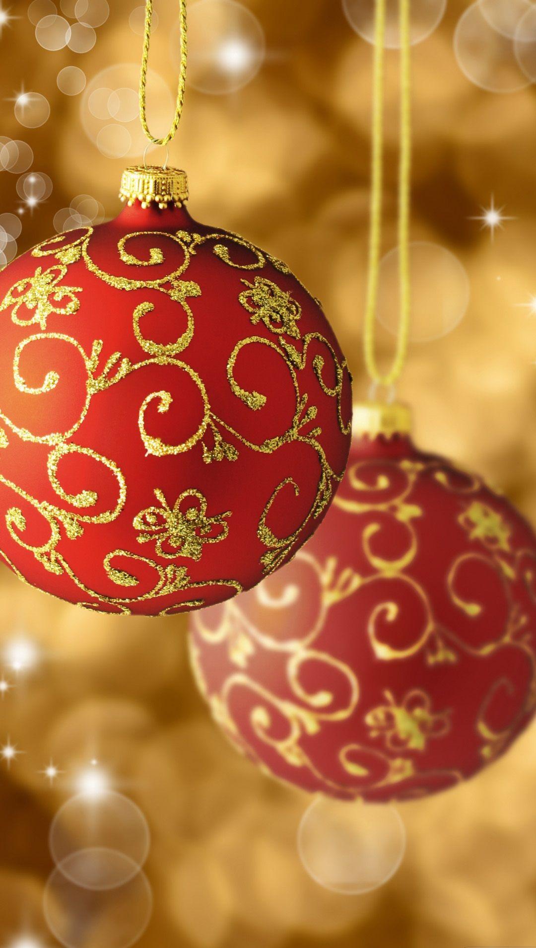 Red and gold christmas ornaments - Samsung Galaxy Wallpaper Christmas Christmas Holidays Lock Screen 1080x1920 Samsung Galaxy Note 3