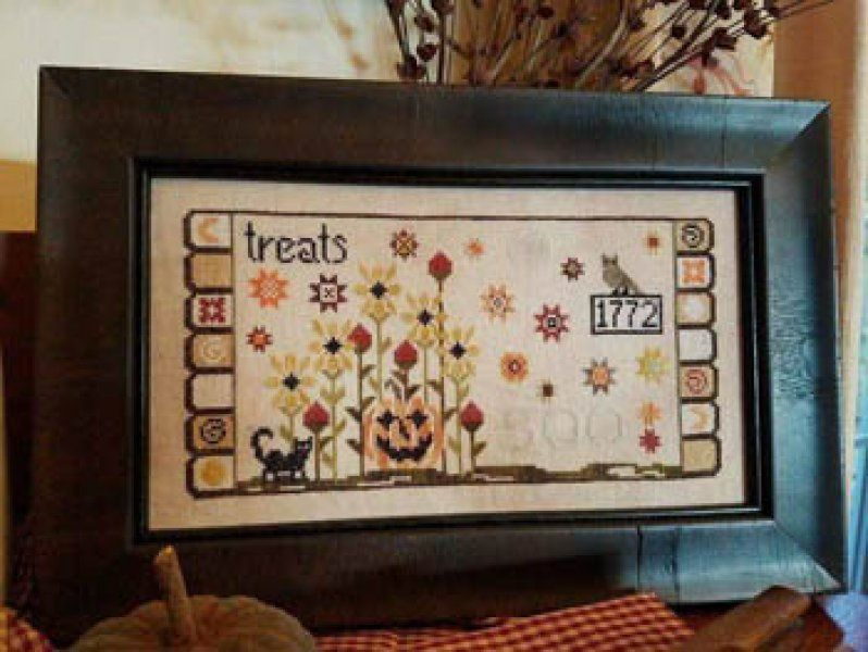 Penny Treats is the title of this cross stitch pattern from Tree Of Life Samplings.