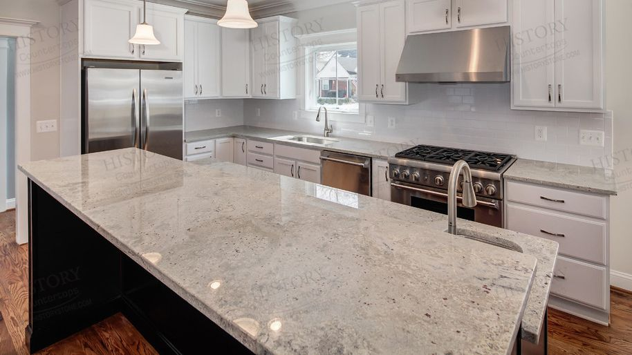 Pin By Jane Ripps On Remodel In 2020 River White Granite Kitchen River White Granite White Granite Countertops