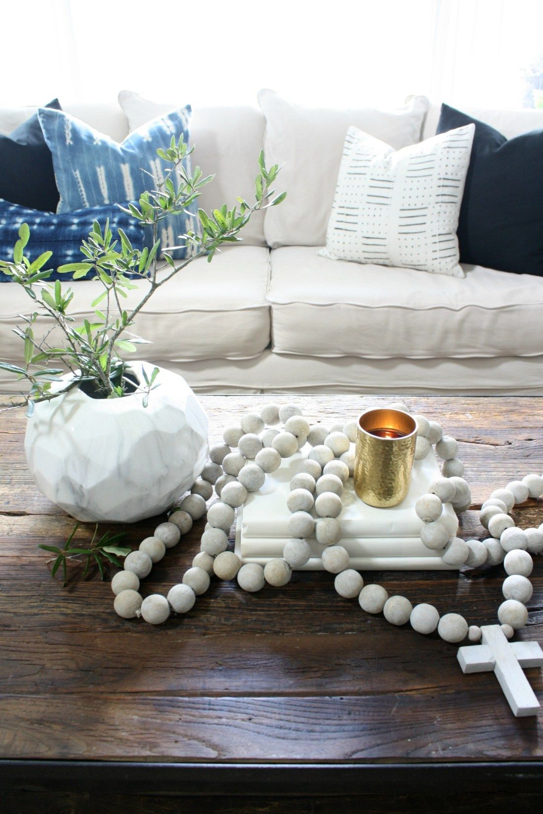 How To Use Decorative Beads Crazy Wonderful In 2020 Decor Wooden Bead Garland Autumn Home