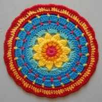 Crochet Mandala Wheel made by Lucie, West Yorkshire, UK, for yarndale.co.uk