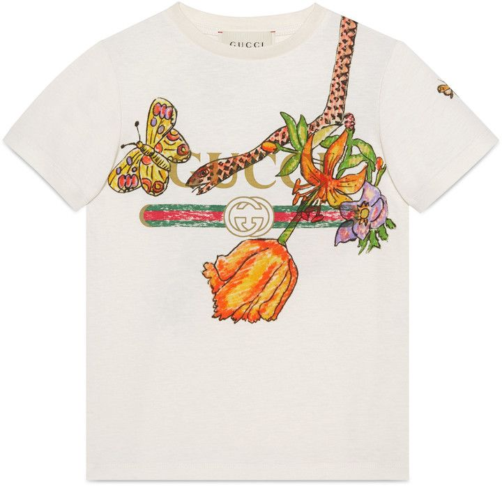 ab9b1b91d81 Children s Gucci and Flora Snake print T-shirt  ShopStyle  giftideas   holidays click for information or to buy.