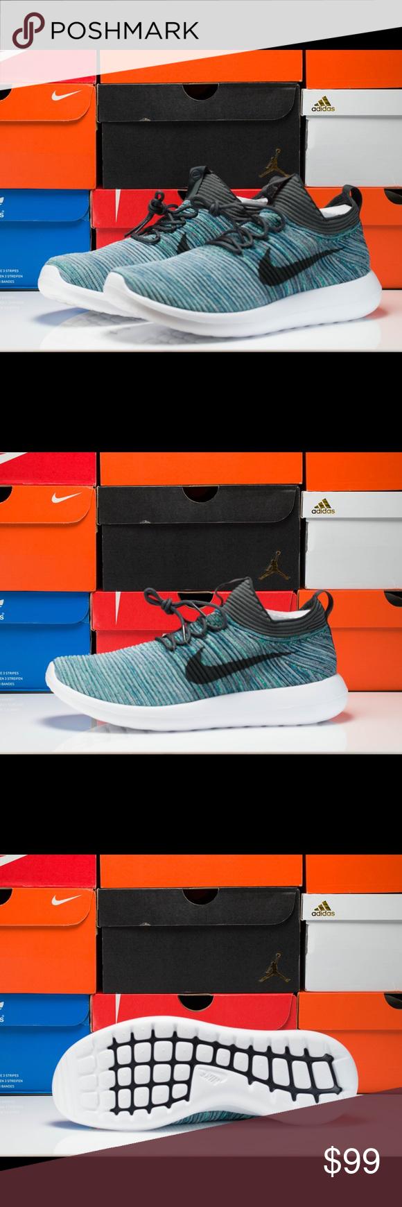 hot sale online 5171c c2318 Nike Roshe Two Flyknit V2 ( 918263-300 ) Nike Roshe Flyknit V2 Running  Shoes Color  Green Abyss   Mica Blue Size  10.5 US   9.5 UK   44.5 EUR  Style  ...
