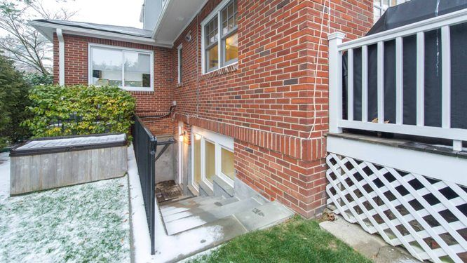 Westchester NY New Exterior Basement Stairs Design Mason Contractor Builder
