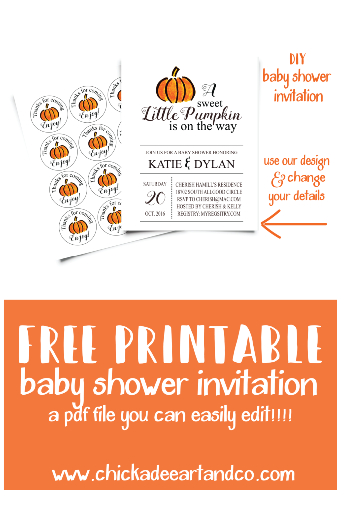 Pumpkin themed baby shower free printables printable baby shower free printable baby shower invitations that you can easily edit in adobe filmwisefo